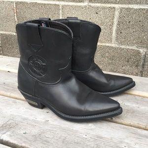 Vintage Harley Davidson Western Boots